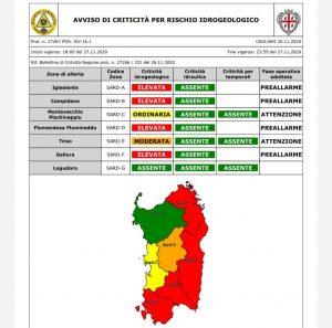 Sardegna – Allerta meteo con codice rosso della Protezione Civile a partire da oggi Venerdì