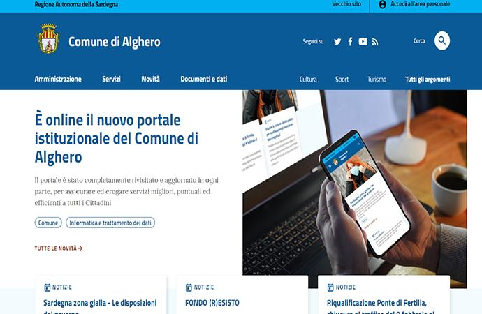 E' online il nuovo sito istituzionale del Comune di Alghero