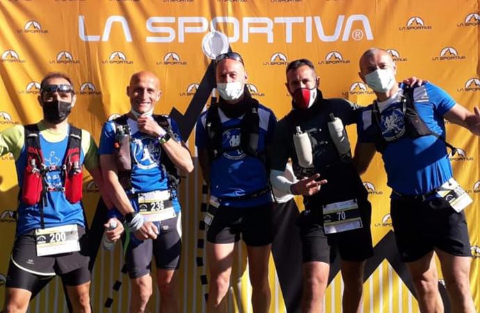 Cristian Masala portacolori dell'Alghero Marathon alla Villacidro SkyRace