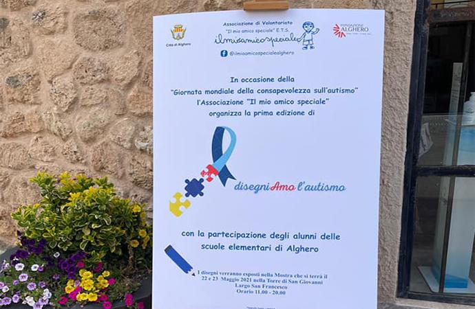 DisegniAMO l'autismo, nella Torre di San Giovanni i disegni delle scuole di Alghero