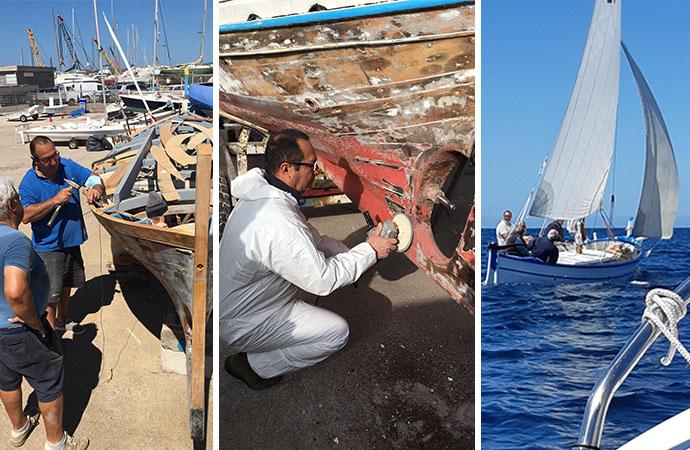 """""""Annina"""" il gozzo algherese restaurato, una storia marinaresca rispolverata grazie alla Lega Navale Italiana"""