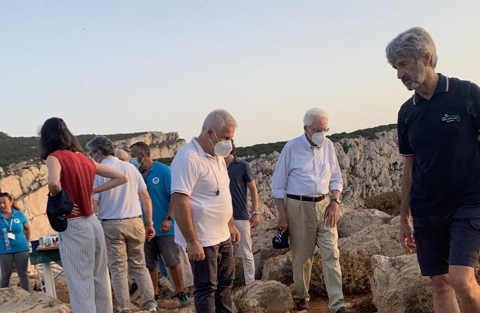 Il Presidente della Repubblica Mattarella visita le bellezze di Alghero, ieri tappa nel Parco Naturale Regionale di Porto Conte