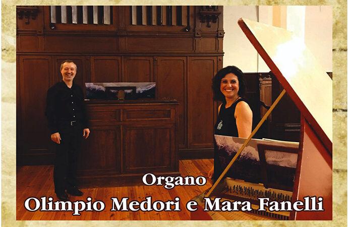 Rassegna Internazionale Organistica,  domenica 29 agosto Olimpio Medori e Mara Fanelli