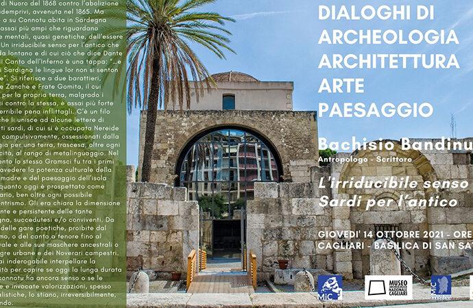 """""""Dialoghi di archeologia, architettura, arte e paesaggio"""", lezione di Bachisio Bandinu"""